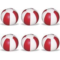 Kit 6 Bolas De 1 A 6 Kg Pista E Campo Medicine Ball De Couro - Unissex