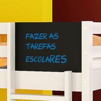 Kit Lousa Para Beliche Teen Play - 100% Mdf - Preto