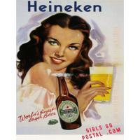 Placa Decorativa Em Mdf Cerveja Vintage Heineken Oldschool 20X30 Único