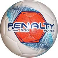 Bola Penalty Player Viii Futsal Branca E Azul