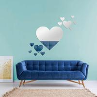 Espelho Love Decor Decorativo Kit Corações Único