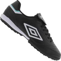 Chuteira Society Umbro Speciali Iii Club Tf - Adulto - Preto/Branco