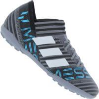 Chuteira Society Adidas Nemeziz Messi Tango 17.3 Tf - Infantil - Cinza/Branco