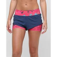 Short Adidas Adidas Duplo Salinas Feminino - Feminino-Marinho+Pink