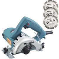 Serra Mármore 1450W 110V 4100Nh2Z Com 3 Discos Azul E Cinza