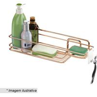 Suporte Para Shampoo & Sabonete- Cobre- 11X39X11,5Cmfuture