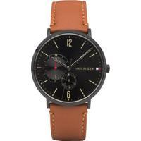 7fa6d32e679 Relógio Tommy Hilfiger Masculino Couro Marrom - 1791510