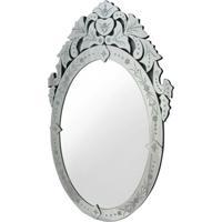 Espelho Veneziano Oval Cor Prata 90 Cm (Alt) - 35451 - Sun House