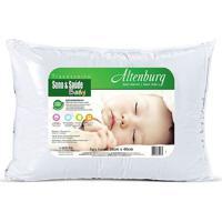 Travesseiro Sono & Saãºde Baby- Branco- 40X30Cm- Altenburg