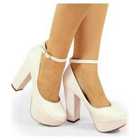 Sapato Boneca Modarpe Meia Pata Branco M22