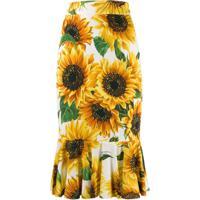 Dolce & Gabbana Saia Com Girassol - Amarelo