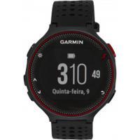 Monitor Cardíaco Com Gps Garmin Forerunner 235 - Preto/Vermelho