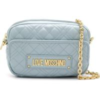 Love Moschino Bolsa Transversal Matelassê Com Logo - Azul