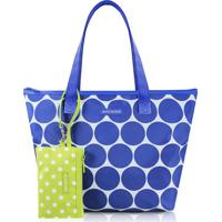 Bolsa Shopper Poã¡ Com Niqueleira- Azul & Verde Clarojacki Design