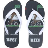 Chinelo Reef Calif Branco/Preto