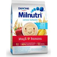 Cereal Infantil Milnutri Sabor Banana E Maçã 150G