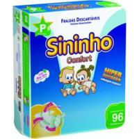 Fralda Sininho Confort Hiper Pacotão P - 96 Unidades