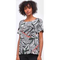 Blusa Lez A Lez Tecido Rayon Bali Floral Feminina - Feminino-Estampado