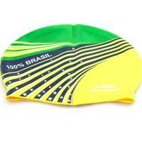 Touca De Silicone 100% Brasil - Gold Sports