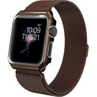 Pulseira Milanês Para Apple Watch 42Mm Aço Inoxidável Marrom