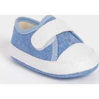 Tênis Com Recortes- Azul & Brancotico Baby
