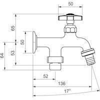 Torneira De Parede Para Lavanderia Deca 1155.C39 Standard Cromada