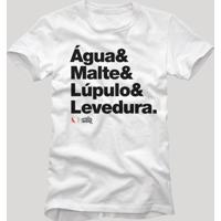 Camiseta Receita Cerveja Reserva Branco