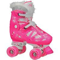 Patins Quad Roller Derby 4 Rodas Star Princess - Ajustável Do Tamanho 32 Ao 36 - W247Gm - Rosa