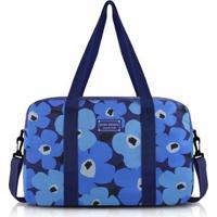 Bolsa De Viagem Jacki Design Poliéster - Feminino-Azul