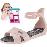 Sandália Infantil Feminina Barbie Confeitaria Rosa Grendene Kids - 21921