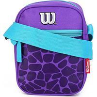 Bolsa Wilson Shoulder Bag Croco - Feminino-Roxo+Azul