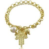 Pulseira Priscila Melo Joias Amuletos Da Sorte Dourado