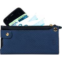 Carteira Artlux Porta Smartphone - Feminino-Azul