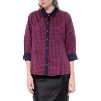 Camisa Xadrez - Moché - Feminino-Violeta