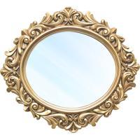 Espelho Veneza Clássico Em Resina E Pintura Dourada