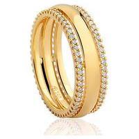 Aliança De Casamento Ouro Amarelo E Diamantes (5 Mm)