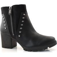 Ankle Boots De Salto Bloco Dakota