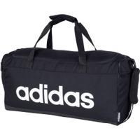 Mala Adidas Linear Duffle M - Preto/Branco