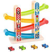 Brinquedo Torre De Carros Com Carrinhos Em Madeira 3+