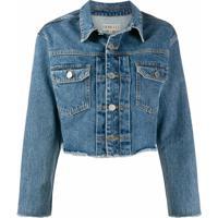 Fiorucci Jaqueta Jeans Cropped Berty - Azul