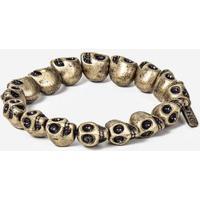 Pulseira Golden Skull 100167-Dourado-Único