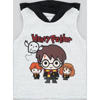 Regata Infantil Harry Potter Com Capuz Cinza Mescla Claro