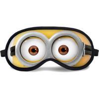 Máscara De Dormir Tritengo Olhos Atentos ( Minnions) - Unissex-Amarelo