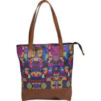 Shopping Bag Source - Groovy - Estampado - Altura 30 Cm X Largura 42 Cm X Comprimento 10 Cm