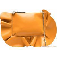 Redvalentino Rock Ruffles Shoulder Bag - Amarelo