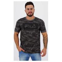 Camiseta Fila Sports Camo Camuflada Preta
