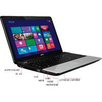 Notebook Acer E1-571-6611 - Intel Core I5-2450M - Ram 6Gb - Hd 500Gb - Tela 15.6'' - Windows 8