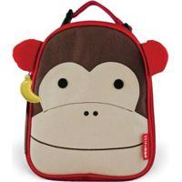 Lancheira Infantil Skip Hop Zoo Macaco Masculina - Masculino-Marrom+Vermelho