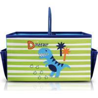 Caixa Organizadora Infantil Com Alça Jacki Design Pequeninos Azul - Kanui
