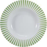 Prato Fundo 23 Cm Porcelana Schmidt - Dec. Sol Verde